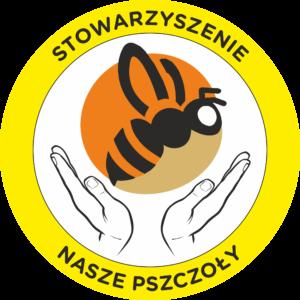 Okrągłe logo Stowarzyszenia Nasze Pszczoły